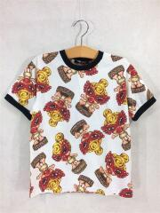 Tシャツ/120cm/コットン/WHT/総柄/WOODEN STATUE/