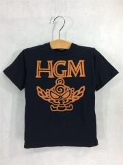 Tシャツ/105cm/コットン/BLK/プリント/HGMロゴ/MINIちゃん