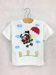 Tシャツ/105cm/コットン/WHT/プリント/TAGGING MINI/パンダ/パラシュート