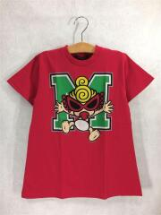 Tシャツ/110cm/コットン/RED/プリント/STANDARD CHARCTOR/Mロゴ/BIG
