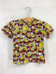 Tシャツ/90cm/コットン/WHT/総柄/STAR with SASSY FACE