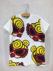 Tシャツ/120cm/コットン/WHT/総柄/PUFFY MINI/BIG