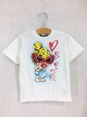 Tシャツ/110cm/コットン/WHT/プリント/TAGGING MINI/ハート