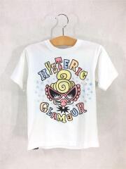 Tシャツ/110cm/コットン/WHT/PUNKKIDS/星/イラスト風