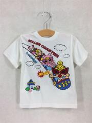 Tシャツ/100cm/コットン/WHT/プリント/AMUSEMENT PARK/ジェットコースター