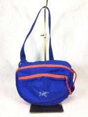 ショルダーバッグ/鞄/ナイロン/ブルー/青/アウトドア/ロゴマーク/メンズ
