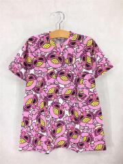 Tシャツ/120cm/コットン/PNK/総柄/HELLO TEDDY MINI/BIG/