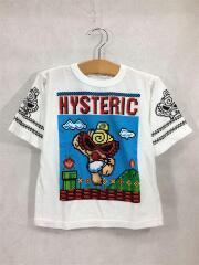 Tシャツ/105㎝/コットン/WHT/プリント/DOT MINI/BIG/7分袖