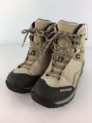 トレッキングブーツ/24.5cm/アイボリー/ベージュ/トレッキングシューズ/靴/登山