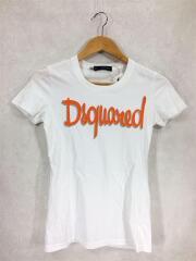 Tシャツ/XS/コットン/ホワイト/白/プリントTee/半袖カットソー/ロゴプリント/シンプル