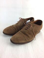 ドレスシューズ/革靴/短靴/US8.5/ブラウン/茶色/牛革/カウレザー