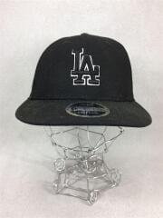 ベースボールキャップ/帽子/コットン/黒/NEW ERA/LAロゴ/ニューエラ