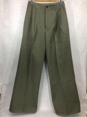 パンツ/カーキ/1/コットン/7AP02CN/WASHED FINX CHINO WIDE TUCK PANTS
