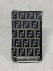 2つ折り財布/ミニウォレット/キャンバス/グレー/総柄/ズッカ/07-16356/0-012