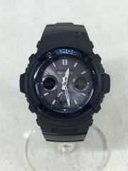 クォーツ腕時計/デジアナ/ラバー/グレー/ブラック/AWG-M100A/G-SHOCK