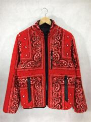 フリースジャケット/ポリエステル/Reversible Bandana Fleece Jacket/19AW