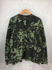 長袖Tシャツ/ロングカットソー/ロンtee/M/コットン/グリーン/カモフラ/AR5613-331