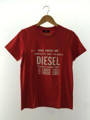 Tシャツ/コットン/レッド/インポート/カジュアル/ラグジュアリー/タグ付/ベーシック/プリント