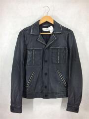 レザージャケット/46/牛革/409170/2016SS Studded Leather Jacket