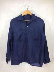 長袖シャツ/1/レーヨン/ネイビー/オープンカラーシャツ/16SUS07A/デザイナーズ/メンズ