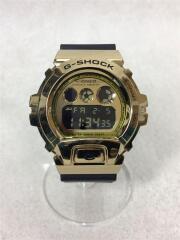ソーラー腕時計/デジタル/ラバー/ゴールド/ブラック/GM-6900G/G-SHOCK