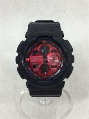 ソーラー腕時計/デジアナ/ラバー/ブラック/黒/GA-140AR/メンズ