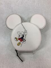 小物/レザー/小銭入れ/クリーム/無地/C2948-3914/ミッキーマウス/ディズニー