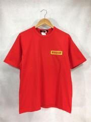Tシャツ/半袖カットソー/プリントTEE/M/コットン/オレンジ/Pirelli/2020AW/中古