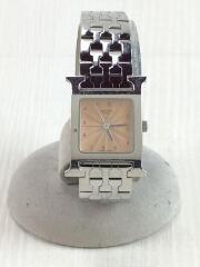 クォーツ腕時計/アナログ/ステンレス/BEG/SLV/Hウォッチ H WATCH