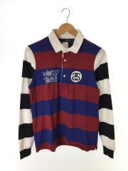 ポロシャツ/S/コットン/マルチカラー/ボーダー/214231/SS Rugby/ストリート