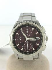 クォーツ腕時計/アナログ/ステンレス/ボルドー/シルバー//クロノグラフ/7T92-0GB0/59261