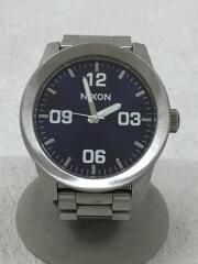 腕時計/アナログ/ステンレス/BLU/SLV/corporal/ブルー/シルバー