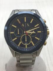 クォーツ腕時計/アナログ/ステンレス/ネイビー/シルバー/AX2614/メンズ/中古