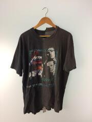 Tシャツ/--/コットン/BLK/ドッキングカットソー/バンドTシャツ