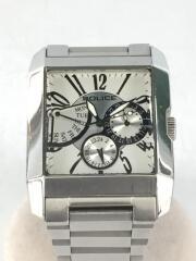クォーツ腕時計/アナログ/ステンレス/白/シルバー/ホワイト/10966M