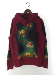 ×Jean Paul Gaultier/タグ/19SS/Floral Print Hooded Sweatshirt/プルオーバーパーカー フローラルプリントフーデッドスウェット