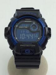 クォーツ腕時計・G-SHOCK/デジタル/ブラック/黒/メンズ/ブルー/青