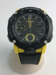 クォーツ腕時計・G-SHOCK/デジアナ/ラバー/BLK/BLK/GA-2000-1A9JF/黒/黄