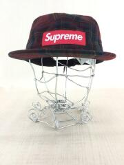 キャップ/BRD/チェック/ボルドー/16AW/PLAID CAMP CAP