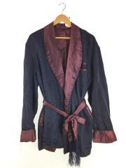 カーディガン(薄手)/ネイビー/紺/アウター/ヴィンテージ/smoking jacket