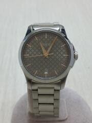 クォーツ腕時計/アナログ/ステンレス/BRW/シルバー/YA126594/126./Gタイムレス/箱コマ付