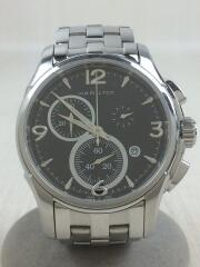 クォーツ腕時計/アナログ/ステンレス/ブラック/黒/シルバー/銀/h326120