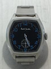 クォーツ腕時計/アナログ/ステンレス/ブラック/黒/シルバー/銀/1045-h33244