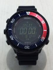 ソーラー腕時計/デジタル/ラバー/黒/ブラック/フィールズマスター/s802-00a0/prospec