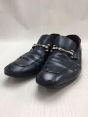 ローファー/141957/41.5/ブラック/黒/レザー/ビジネス/ドレスシューズ/靴/クツ/ロゴ