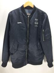 フライトジャケット/M/ナイロン/黒/FCRB-167023/REVERSIBLETOURTEAMJACKET