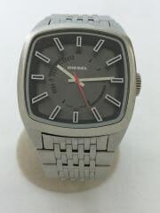クォーツ腕時計/アナログ/ステンレス/黒/ブラック/シルバー/灰/dz-1587