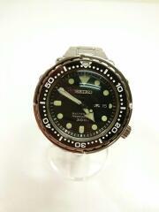 クォーツ腕時計/アナログ/ステンレス/黒/SLV/7c46-0Ag0/プロスペックス マリーンマスタープ