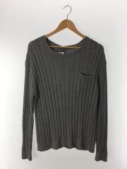 セーター(薄手)/L/コットン/グレー/灰/512080129-1322/ニット/トップス