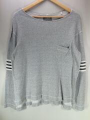 長袖Tシャツ/M/コットン/GRY/s.0324